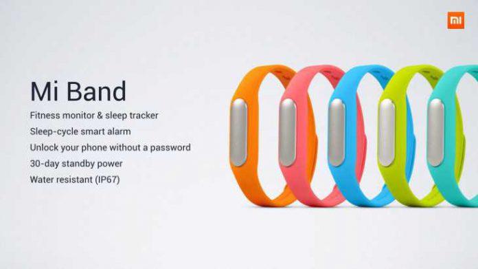 Xiaomi Mi Band Couleurs