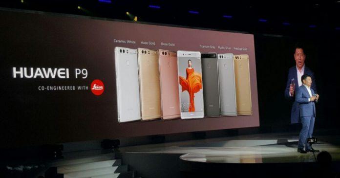 Les Huawei P9 et P9 Plus lors de leur présentation à Londres